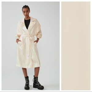 NWT. Zara Iridescent Effect Trench Coat. Size S-M.